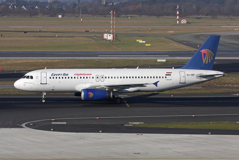 SU-GBF Airbus A320-231 c/n 0351 Dusseldorf/EDDL/DUS 30-01-09