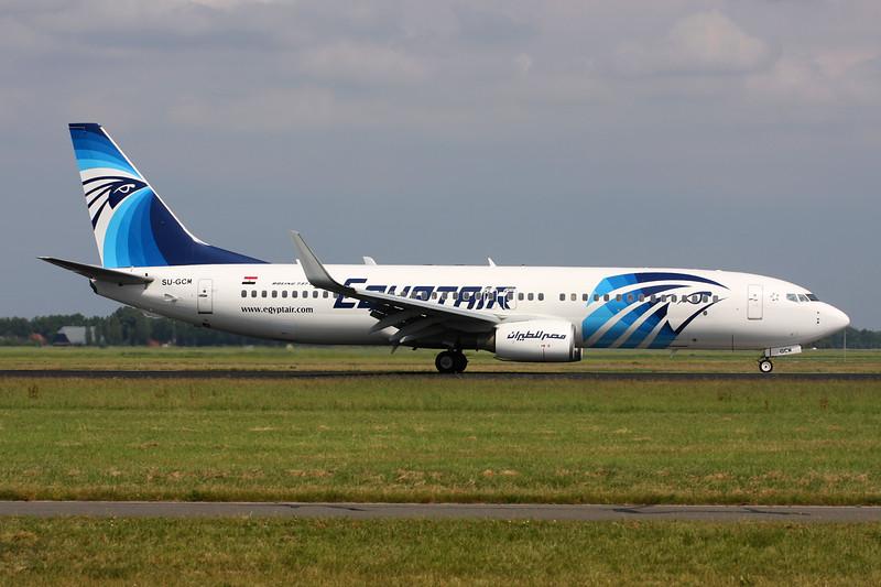 SU-GCM Boeing 737-866 c/n 35558 Amsterdam/EHAM/AMS 21-06-14