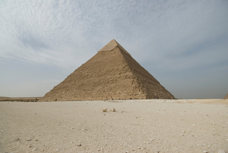 Isolated shot of the Great Pyramid - Giza, Egypt