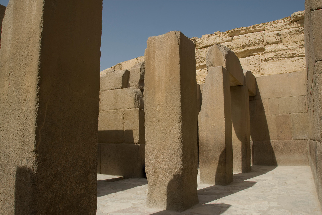 Columns in front of Sphinx- Giza, Egypt
