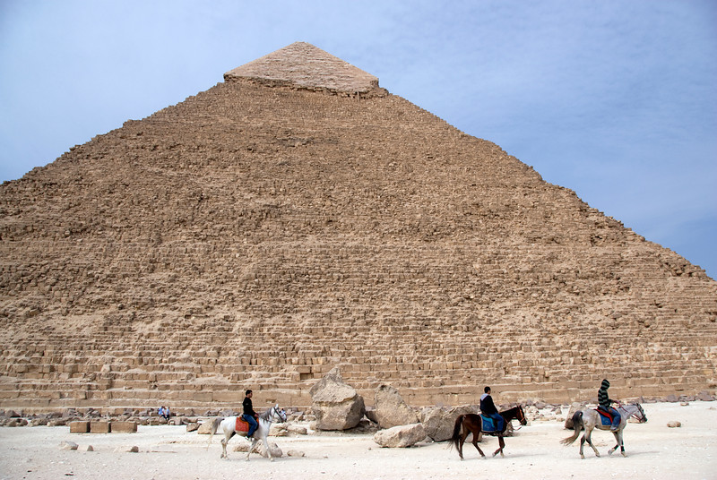 Horsemen in front of the Pyramid - Giza, Egypt