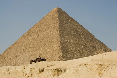 Horseman in front of the pyramid - Giza, Egypt