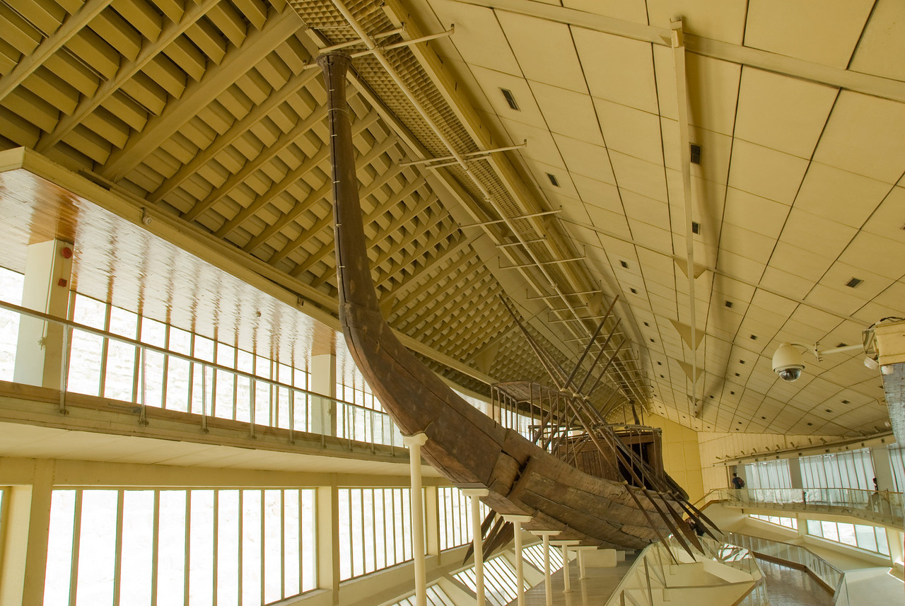 Inside the Boat Museum - Giza, Egypt