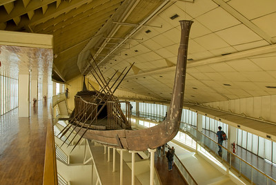 Inside the Boat Museum in Giza, Egypt