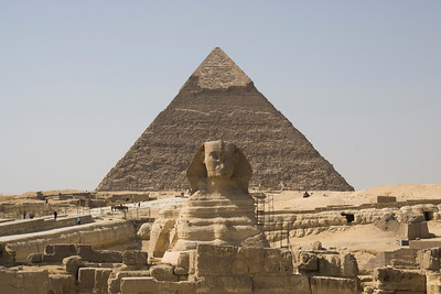 Profile of the Sphinx and Pyramid - Giza, Egypt
