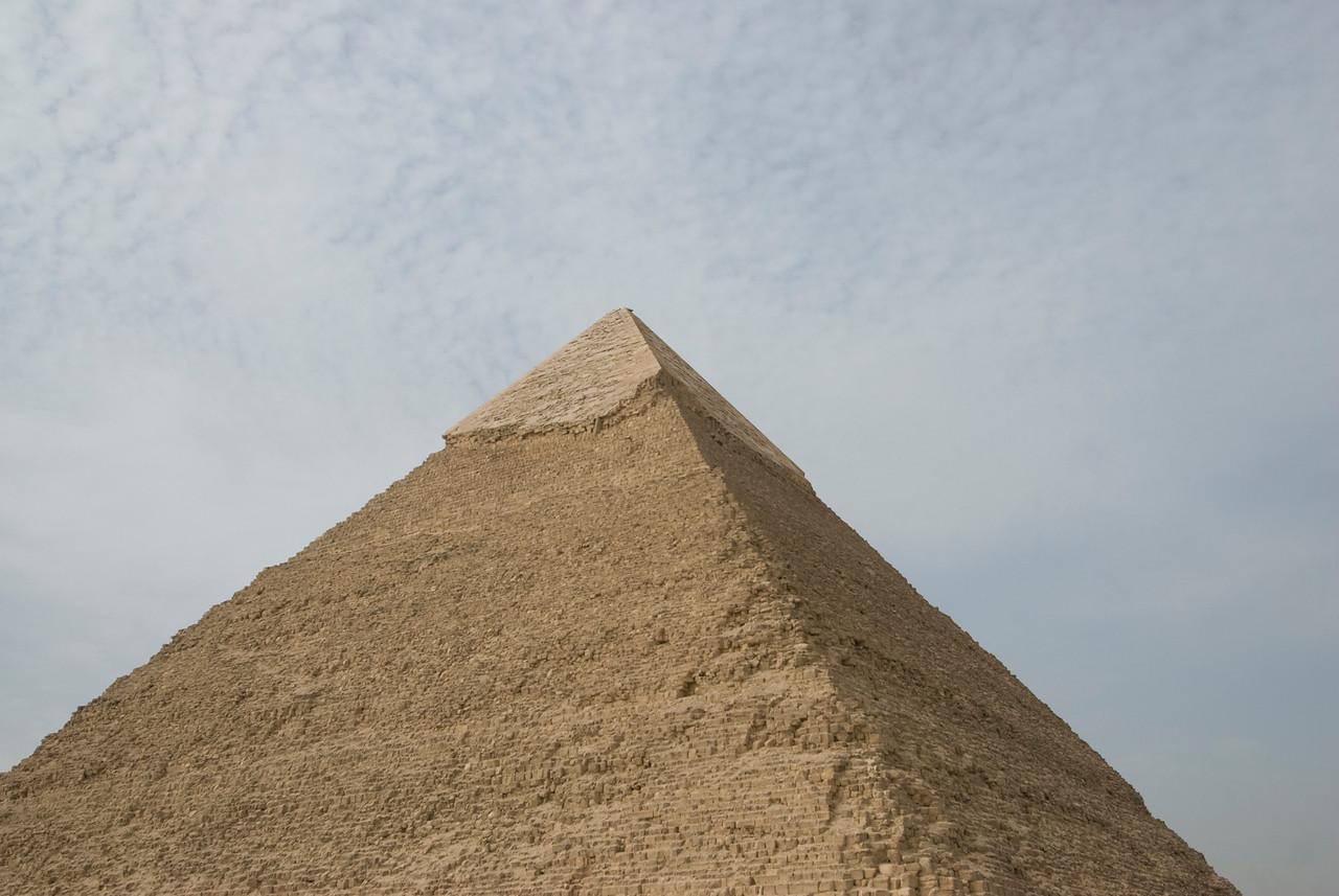 The peak of the Pyramid - Giza, Egypt
