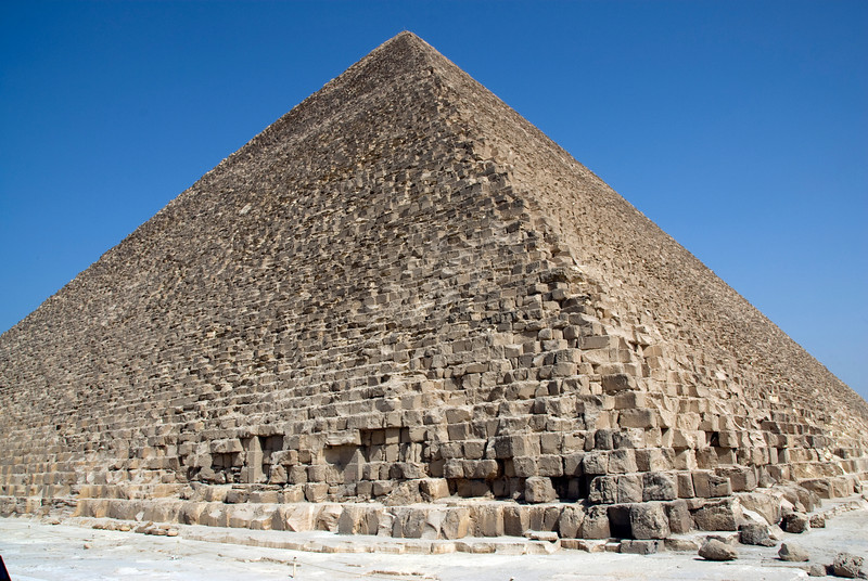 Profile of the pyramid - Giza, Egypt