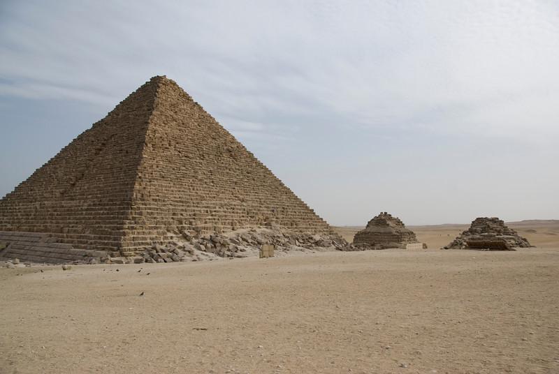 Beautiful shot of the Pyramid - Giza, Egypt