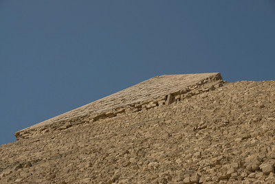 Looking up the top of  Pyramid - Giza, Egypt