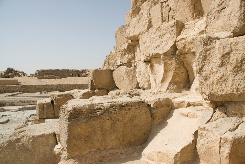 Close-up shot of pyramid blocks - Giza, Egypt