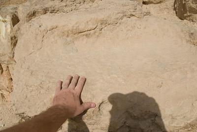 Touching the Great Pyramid - Giza, Egypt