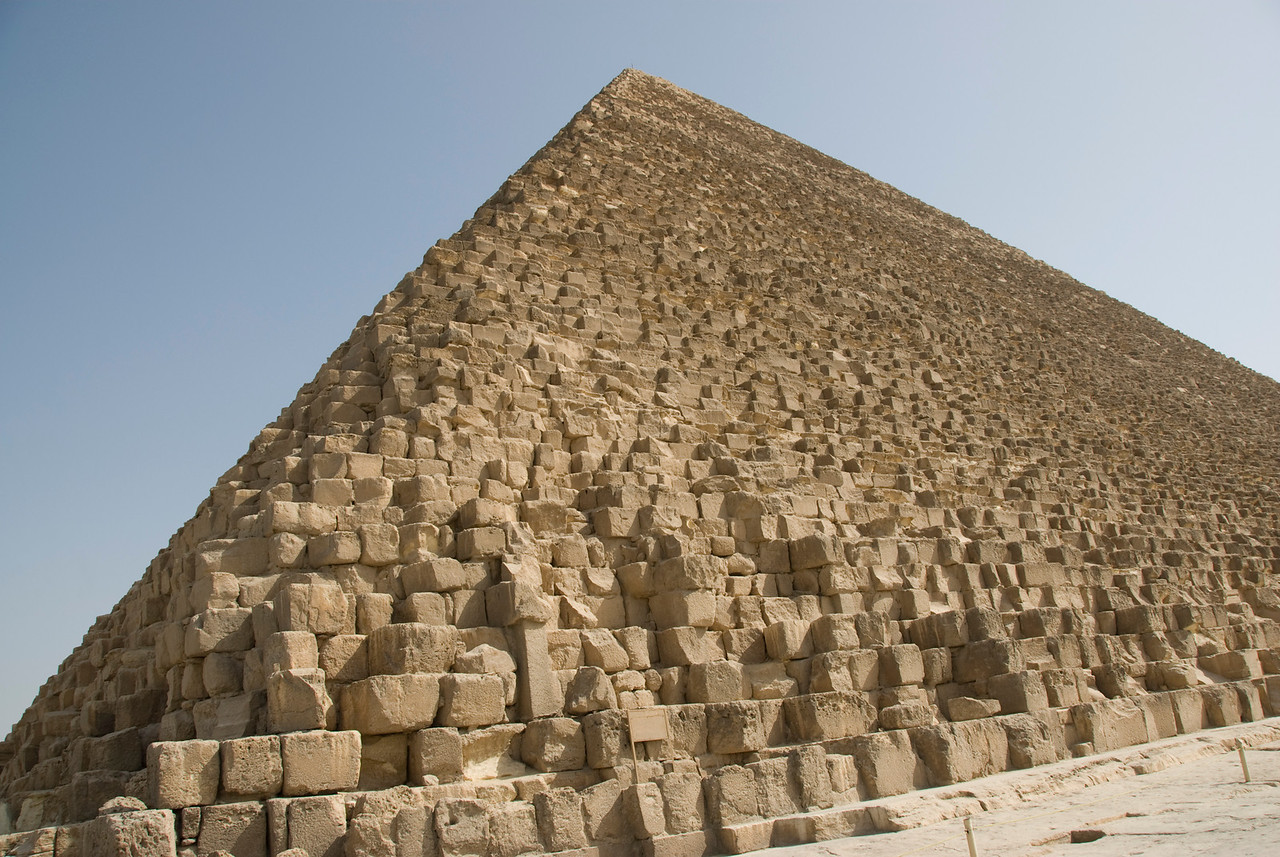 Details of the Pyramid - Giza, Egypt