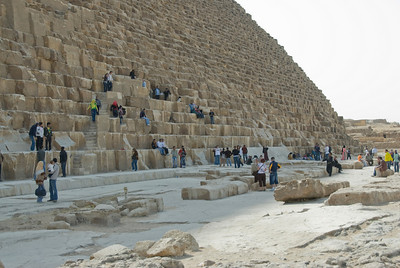 Tourists at the Great Pyramid - Giza, Egypt