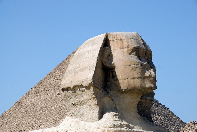 The head of the Sphinx - Giza, Egypt