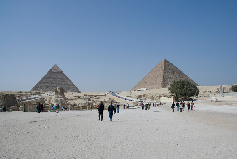 Pyramids and Sphinx - Giza, Egypt