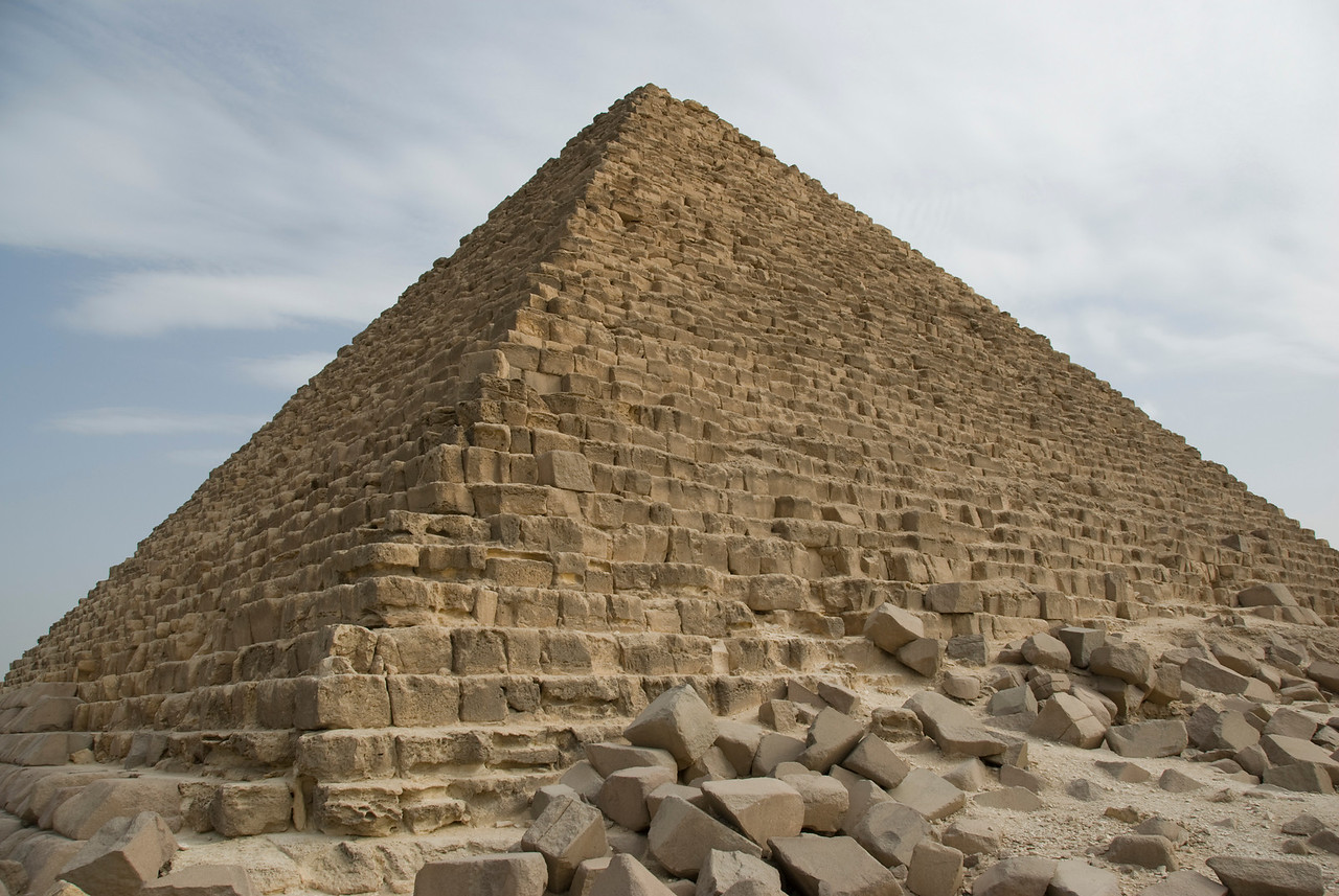 Corner profile of the Pyramid - Giza, Egypt