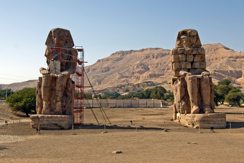 Colossus of Memnon in Luxor, Egypt