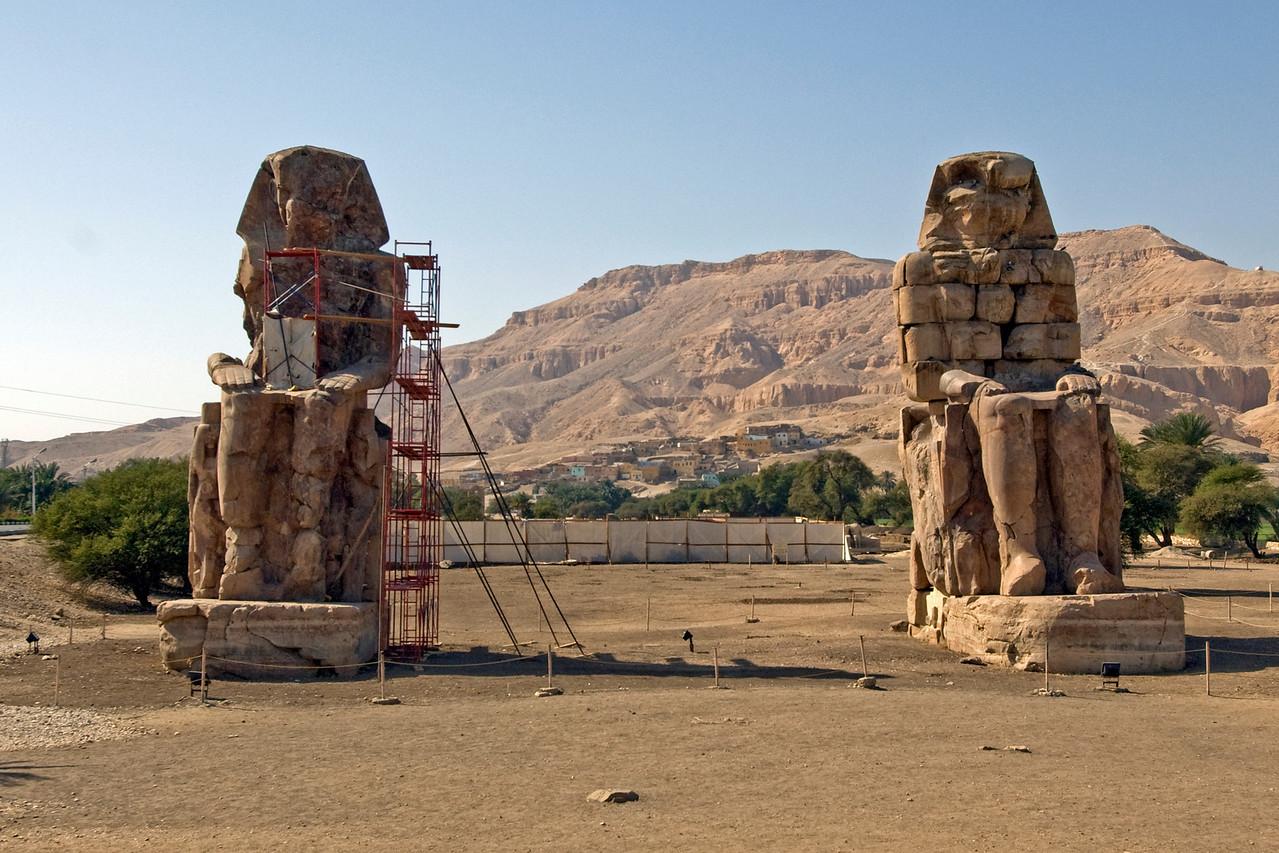 Colossus of Memnon in Luxor, Egypt
