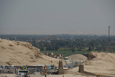 Karnak viewed from Hatshepsuts Temple - Luxor, Egypt