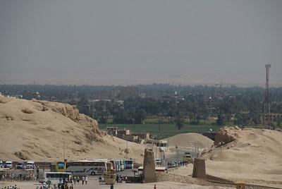 Karnak viewed from Hatshepsuts Temple - Luxor, Egypt