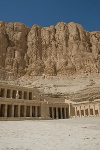 Shot from outside the Hatshepsuts Temple - Luxor, Egypt