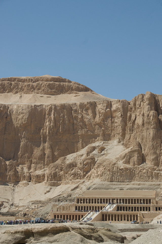 View of the Hatshepsuts Temple from the outside - Luxor, Egypt