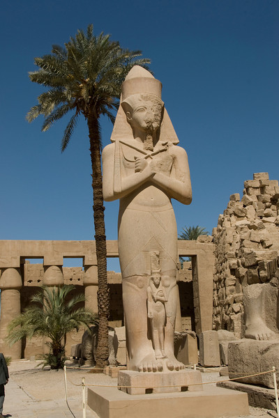 Giant Pharaoh statue at the Karnak Temple - Luxor, Egypt