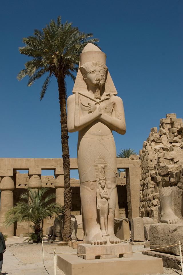 Giant Pharaoh statue at the Karnak Temple - Luxor, Egypt