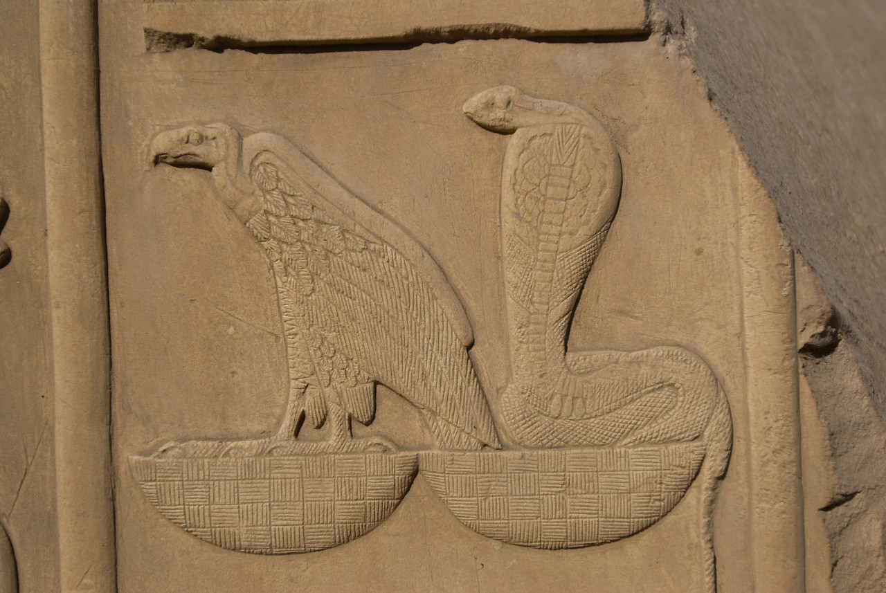 Details of heiroglyphic wall at the Karnak Temple - Luxor, Egypt