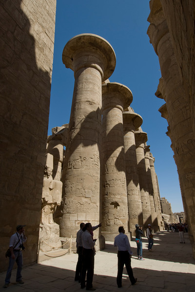 Tourists checking out the Karnak Temple - Luxor, Egypt