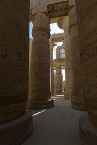Tall pillars of Karnak Temple - Luxor, Egypt