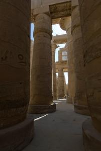 Tall pillars of Karnak Temple - Luxor, Egypt