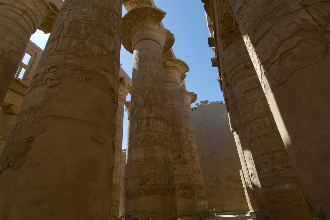 Pillars at the Temple of Karnak - Luxor, Egypt