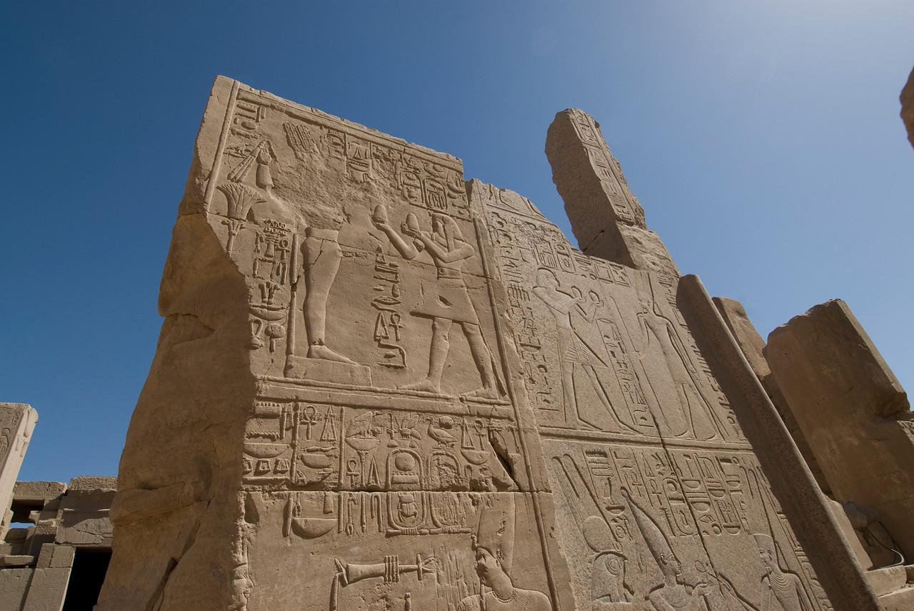 Herioglyphic wall of Karnak Temple - Luxor, Egypt