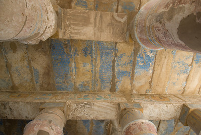 Looking up the ceiling of the Karnak Temple - Luxor, Egypt