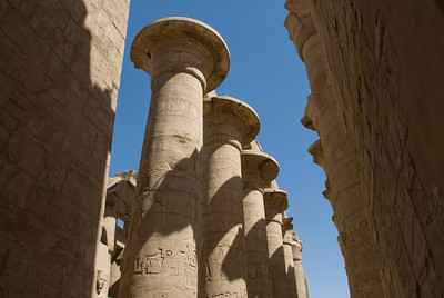 Details of the Pillars at Karnak Temple - Luxor, Egypt