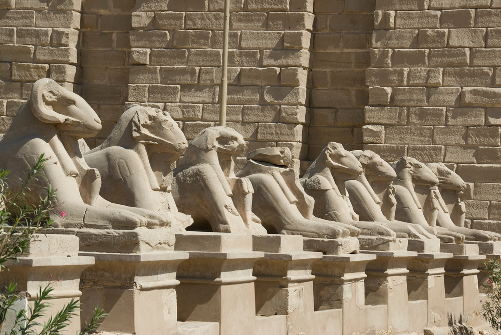 Row of Sphinxes at Karnak Temple