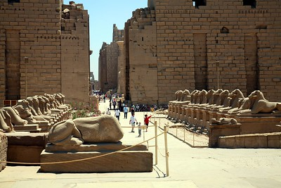 View of the first pylon of the temple of Amun-Re at Karnak