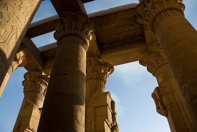 Details of the pillars at Temple of Kom Ombo - Komombo, Egypt