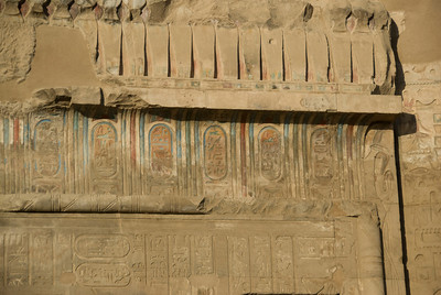 Heiroglyphs in color at the Temple of Kom Ombo - Komombo, Egypt