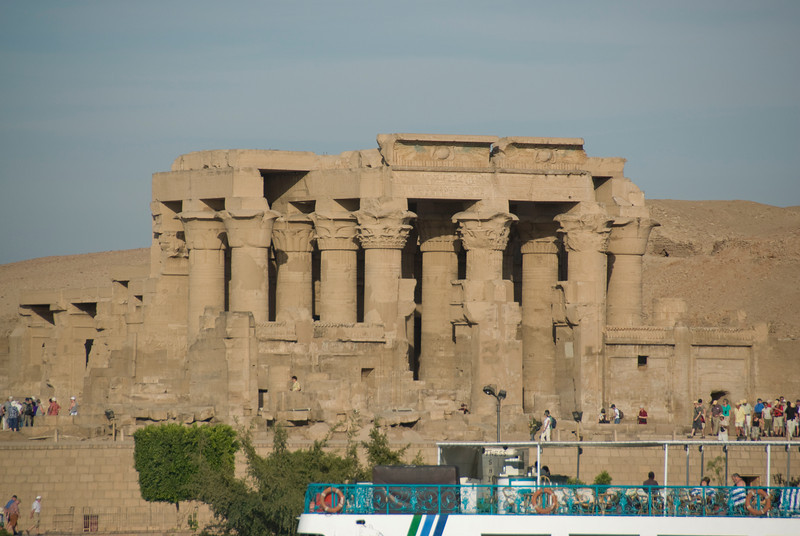 Tourists flocked outside the Temple of Kom Ombo - Komombo, Egypt
