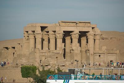 Tourists flocked outside the Temple of Kom Ombo - Komombo, Egypt