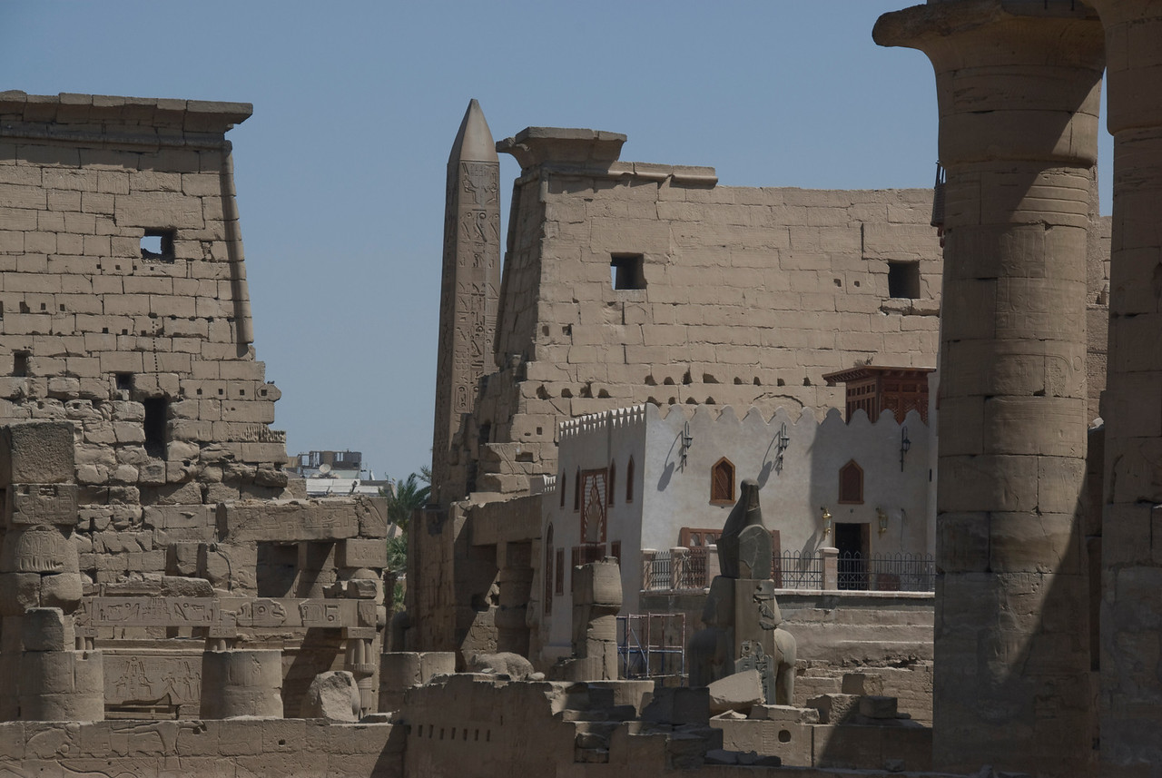 Details inside the Luxor Temple - Luxor, Egypt