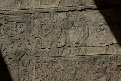 Heiroglyph carvings at the Luxor Temple - Luxor, Egypt