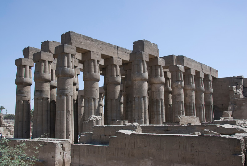 Rows of pillars at the Luxor Temple - Luxor, Egypt