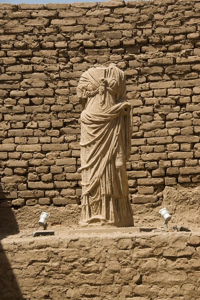 Headless Greek Statue inside Luxor Temple - Luxor, Egypt
