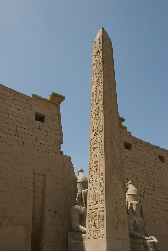 Obelisk towering above the Luxor Temple - Luxor, Egypt