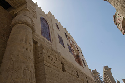 A different angle of the mosque inside Luxor Temple - Luxor, Egypt