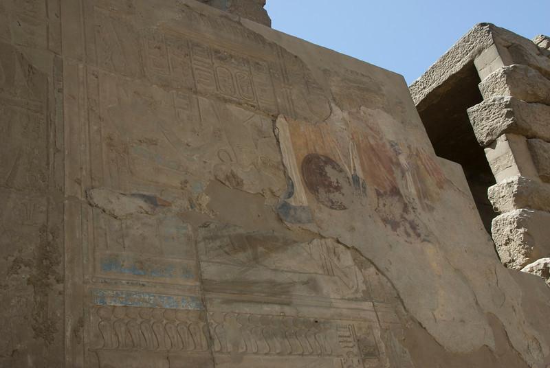 Byzantine Fresco at the Luxor Temple - Luxor, Egypt