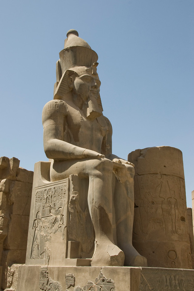 Pharaoh statue at Luxor Temple - Luxor, Egypt